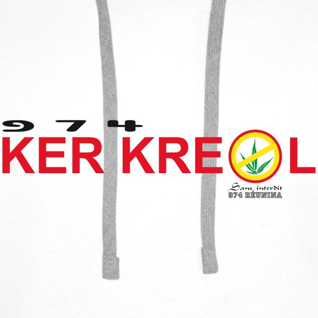 Sweartshirt 974 Ker Kreol cible - Sans interdit - Réunion