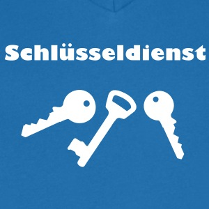 Schlüsseldienst T-Shirts - Men's V-Neck T-Shirt