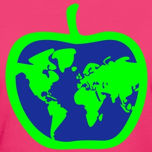 Apple, World, Earth T-Shirts - Women's Organic T-shirt