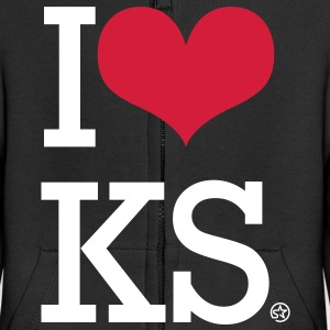 I LOVE KS Sweats Enfants - Veste à capuche Premium Enfant