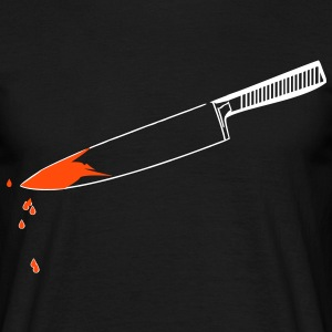 Bloody Murder, murder, knives, blood, kitchen knife, pocket knife, bleeding - Men's T-Shirt