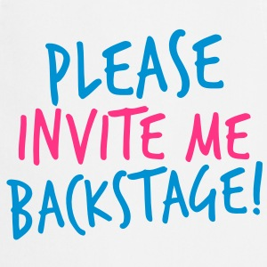 please invite me backstage! VIP CONCERT Tee  Aprons - Cooking Apron