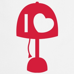 I LOVE LAMP with light and cord simple no words  Aprons - Cooking Apron