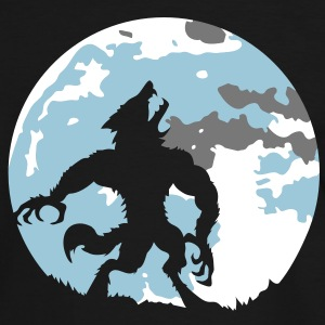 The werewolf in the moonlight T-Shirts - Men's Ringer Shirt