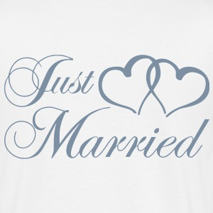 just_married_coeur Tee shirts - T-shirt Homme