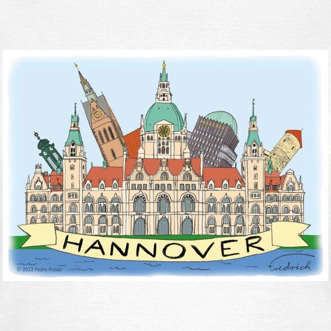 Hannover Souvenir Comic Sommer T-Shirt für Frauen