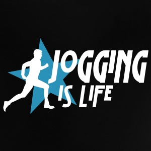 jogging is life male with star i 2c Babyskjorter - Baby-T-skjorte