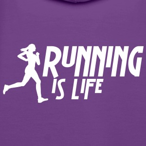 running is life female i 1c Pullover & Hoodies - Frauen Premium Hoodie