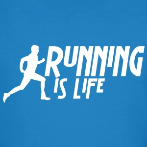 running is life male i 1c T-shirts - Organic mænd