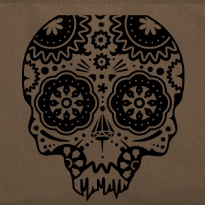Skull with different ornaments in the style of the Mexican Sugar Skulls Bags  - Retro Bag