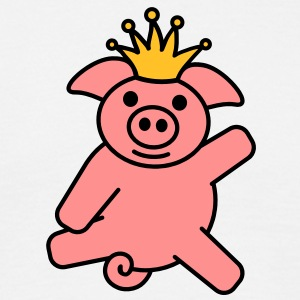 pig_with_crown T-shirts - Mannen T-shirt