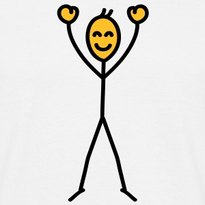 happy_stick_figure T-shirts - Herre-T-shirt