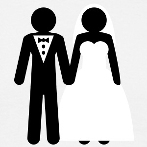 wedding_couple T-shirts - T-shirt herr