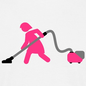 vacuuming_girl T-Shirts - Männer T-Shirt