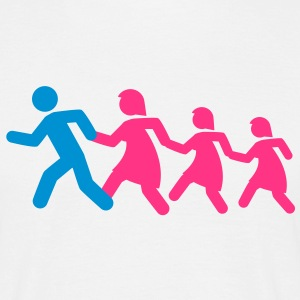 running_family_with_two_girls T-Shirts - Männer T-Shirt