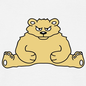 sitting_angry_bear T-shirts - Mannen T-shirt