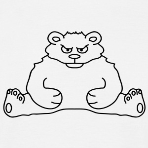 sitting_angry_bear Tee shirts - T-shirt Homme