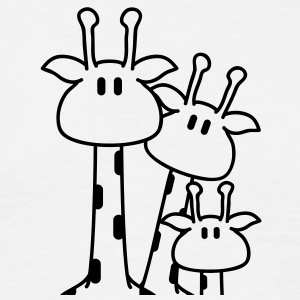 cute_giraffe_family_heads T-skjorter - T-skjorte for menn