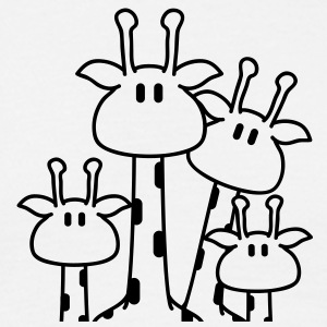 cute_giraffe_family T-shirts - Mannen T-shirt