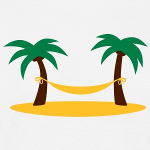 island_palms_and_hammock T-Shirts - Männer T-Shirt