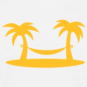 island_palms_and_hammock Tee shirts - T-shirt Homme