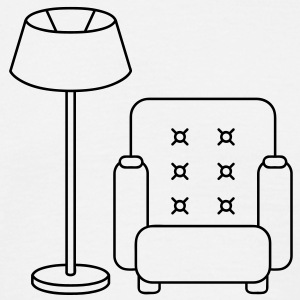 floor_lamp_and_armchair T-shirts - T-shirt herr