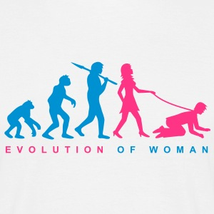 evolution_of_woman T-shirts - Mannen T-shirt