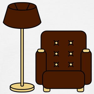 floor_lamp_and_armchair Camisetas - Camiseta hombre