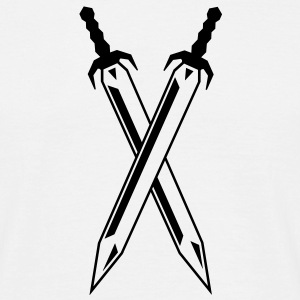 two_swords T-shirts - Herre-T-shirt