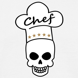 star_chef_skull T-shirts - Mannen T-shirt