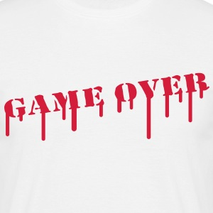 game_over_paint T-shirts - Mannen T-shirt