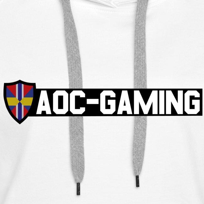AOC-Gaming Hood Tröja Vit DAM med NYA Loggan