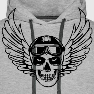 Flying Skull - Men's Premium Hoodie