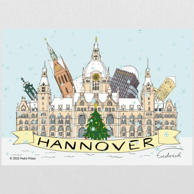 Hannover Souvenir Weihnachten Winter Comic Tasche einseitig bedruckt