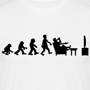 evolution_of_couch_potato T-shirts - Mannen T-shirt