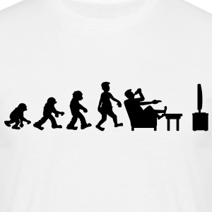 evolution_of_couch_potato T-Shirts - Männer T-Shirt