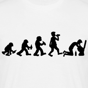 evolution_of_hangover T-shirts - Mannen T-shirt