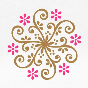 Blumen Ornament Mehndi Designs T-Shirts - Frauen T-Shirt