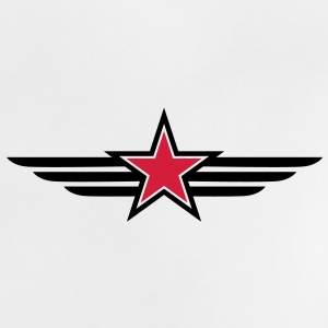 sharp red star black outline with 'wings' Shirts - Baby T-Shirt