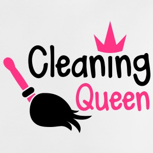 cleaning queen with a broom and a royal crown Shirts - Baby T-Shirt