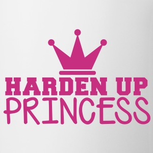 HARDEN UP PRINCESS with a royal crown Bottles & Mugs - Mug