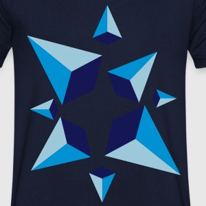 Spiky Blue - T-shirt Homme col V