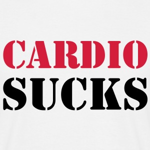 Cardio sucks - T-skjorte for menn