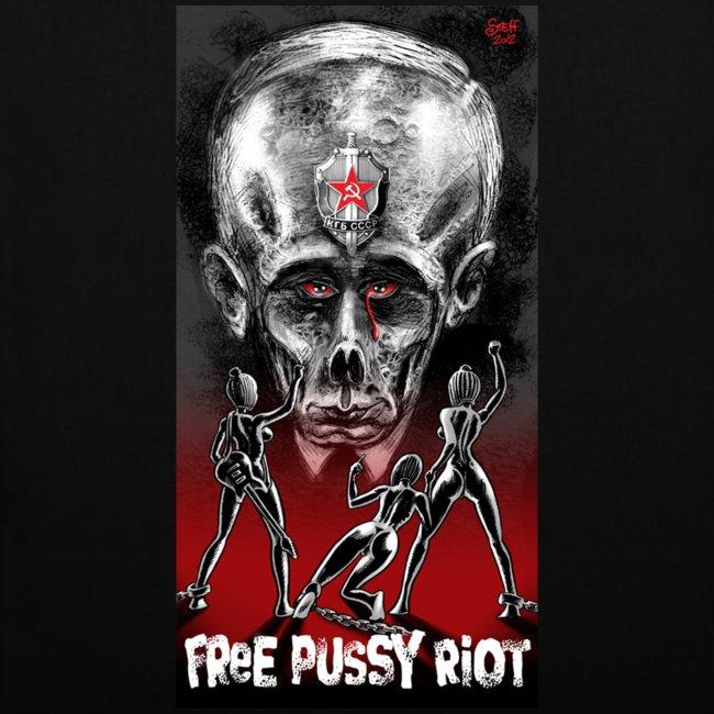 Free Pussy Riot! Fuck Putin! Tasche