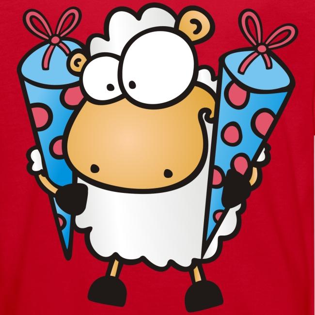 Schulanfang Schaf mit Zuckertüten Kinder T-Shirt