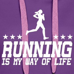 running is my way of life female 1c Pullover & Hoodies - Frauen Premium Hoodie