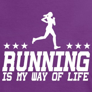 running is my way of life female 1c T-Shirts - Women's Ringer T-Shirt