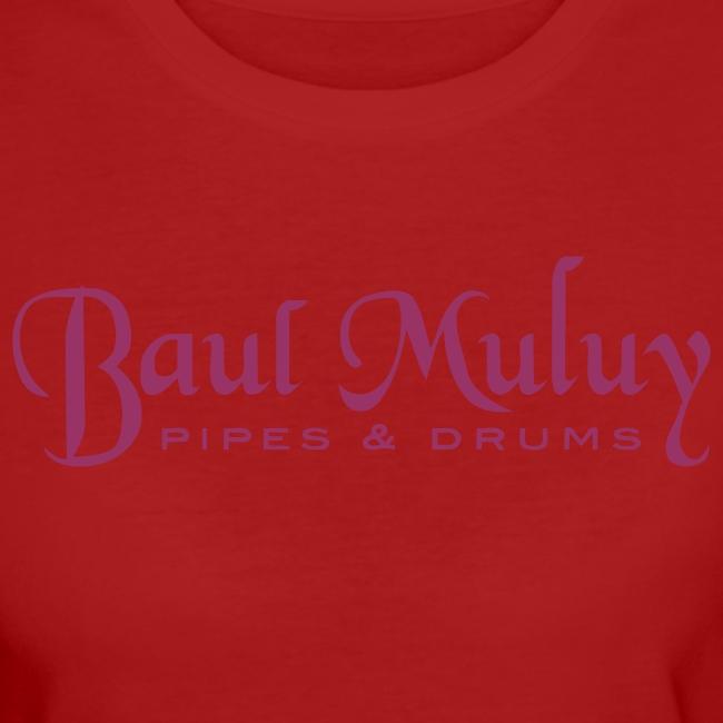 Bio-Shirt mit Glitzerdruck, rot