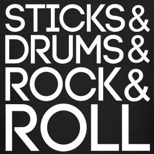 Sticks Drums Rock Roll T-Shirts - Men's Organic T-shirt