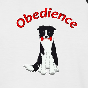 Obedience Border Collie 2 T-Shirts - Men's Baseball T-Shirt